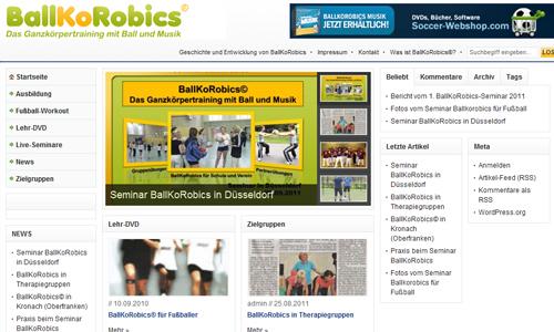 Ballkorobics - Koordination mit Ball und Musik