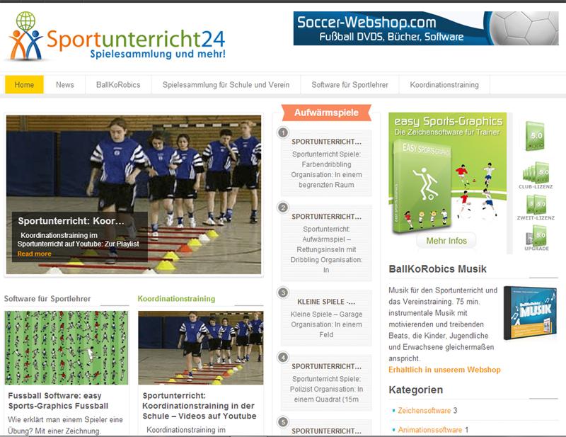 Sportunterricht  - Spielesammlung für Schule und Verein
