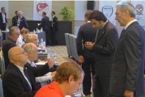 Karlheiz Raviol (BDFL/AEFCA) and Horst Zingraf (former 1. Vice-President AEFCA) - Meeting before Congress