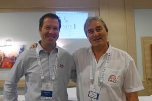 Teddy Moen (CEO Norwegean Soccer Association) and  Peter Schreiner