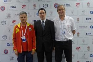 Marian-Cucchiaroni Mihail (Techn. Director Rumänien), Philipp Müller (USFT President) and Peter Schreiner