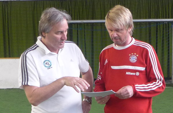 Matthias Nowak und Peter Schreiner bei den Dreharbeiten zur DVD