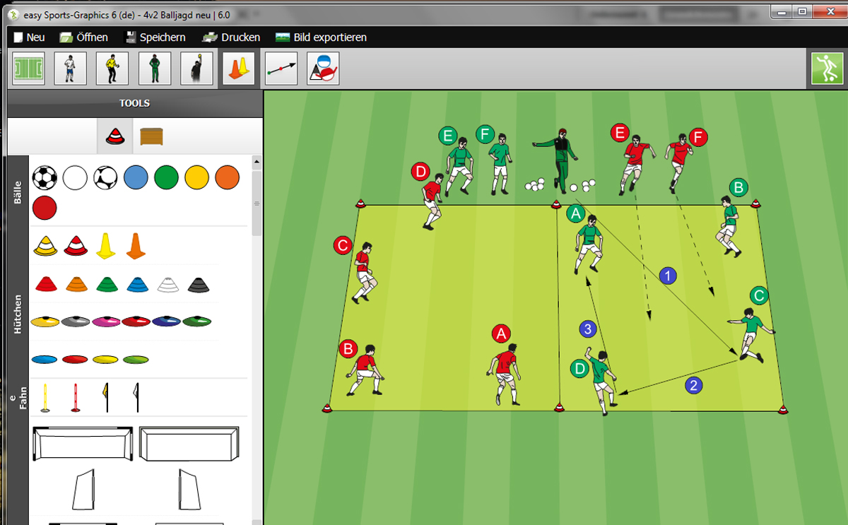 Fußballsoftware easy Sports-Graphics 6 professional