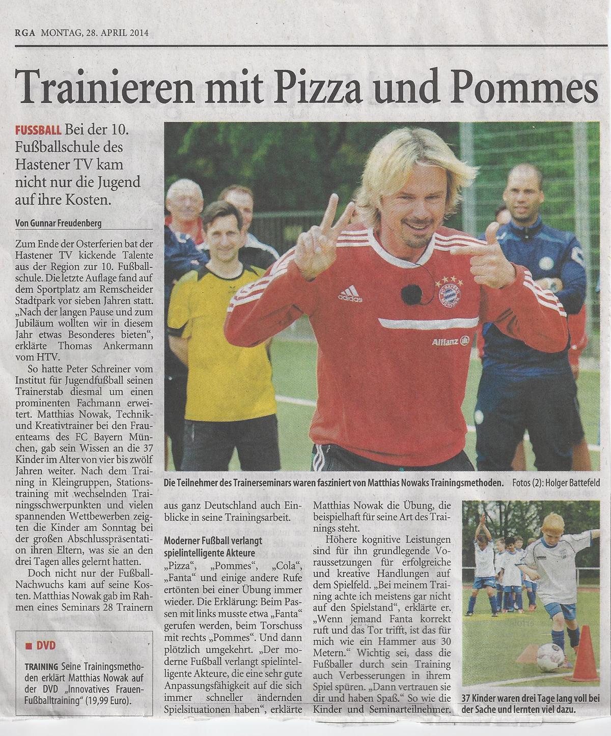 Matthias Nowak - Technik- und Kreativtrainer Bayern München (Frauen)