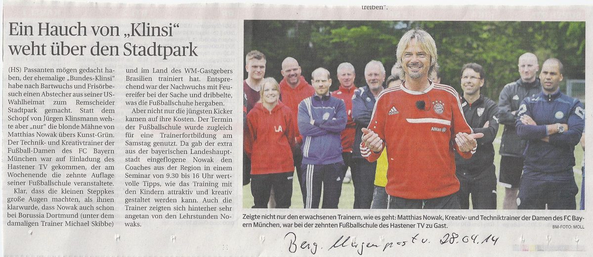 Klinsmann Seminar mit Matthias Nowak