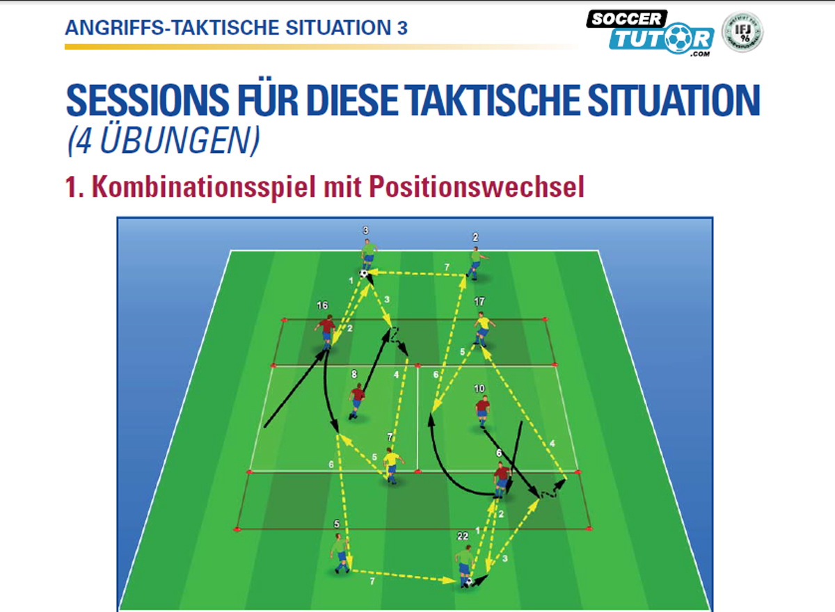 FC Barcelona Buch - Angriff 3 Übung 1